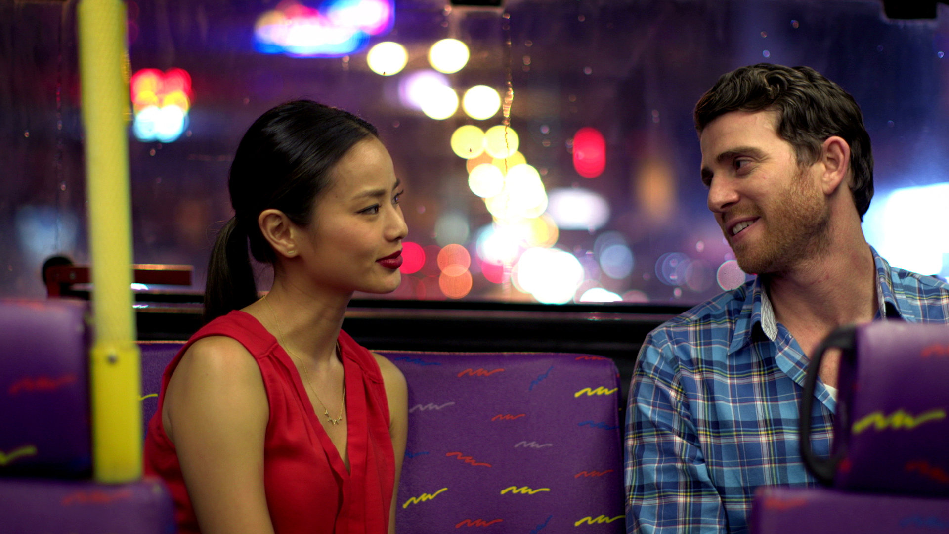 """Jamie Chung and Bryan Greenberg in a still from """"It's Already Tomorrow in Hong Kong."""""""
