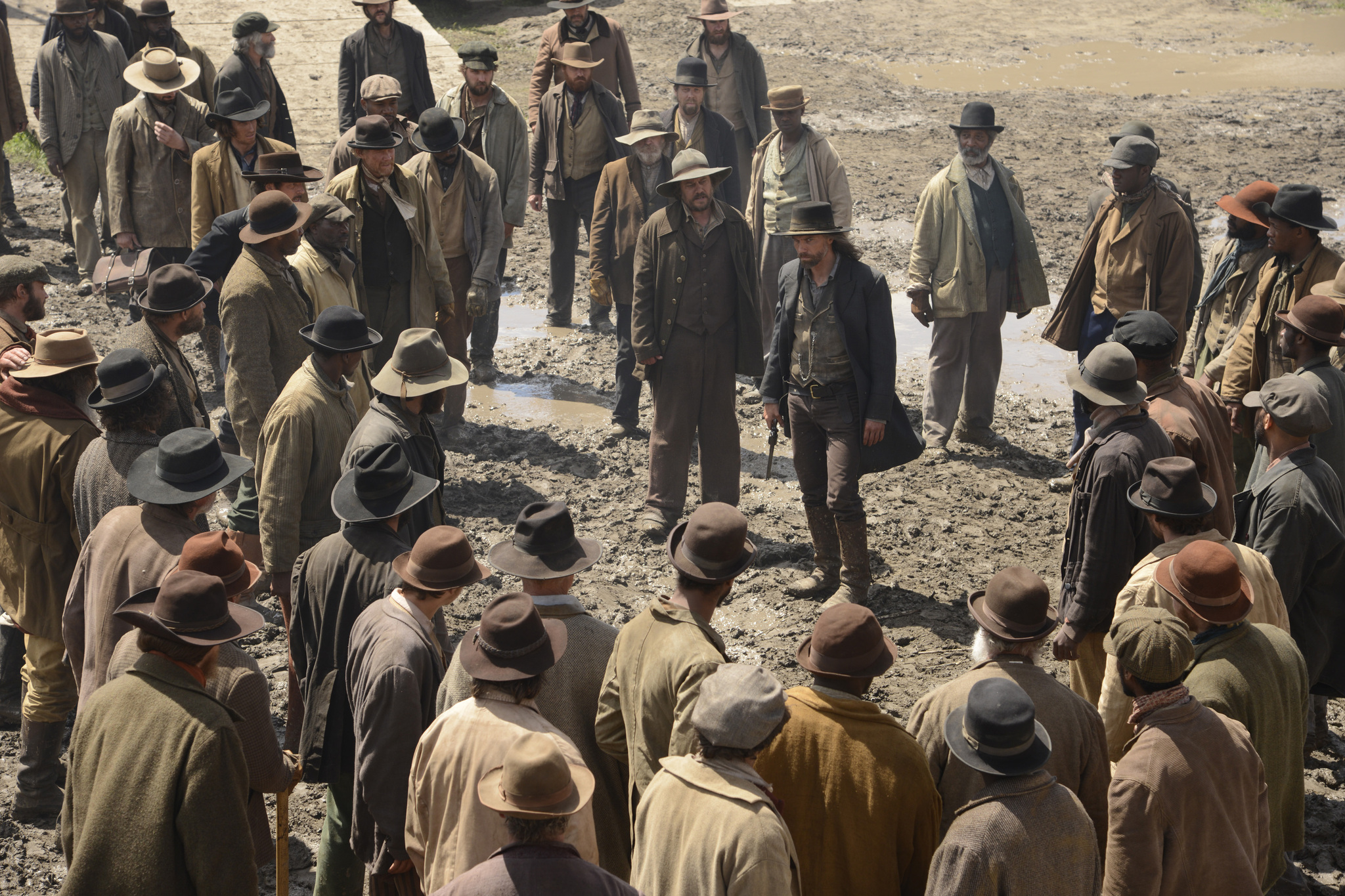 Anson Mount and Duncan Ollerenshaw in Hell on Wheels (2011)