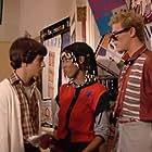 Merritt Butrick, John Femia, and Claudette Wells in Square Pegs (1982)