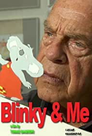 Yoram Gross with his animated character Blinky Bill.