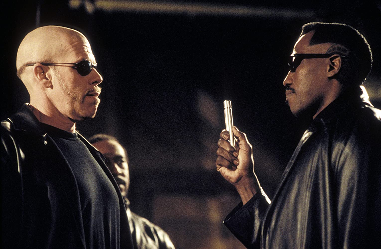 Ron Perlman, Wesley Snipes, and Danny John-Jules in Blade II (2002)