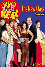 Jonathan Angel, Natalia Cigliuti, Dustin Diamond, Dennis Haskins, Sarah Lancaster, Bianca Lawson, Christian Oliver, and Spankee Rodgers in Saved by the Bell: The New Class (1993)