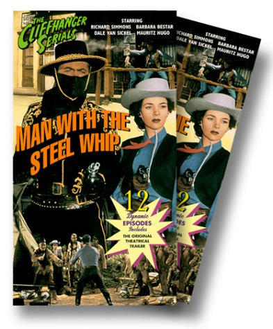 Barbara Bestar and Dick Simmons in Man with the Steel Whip (1954)