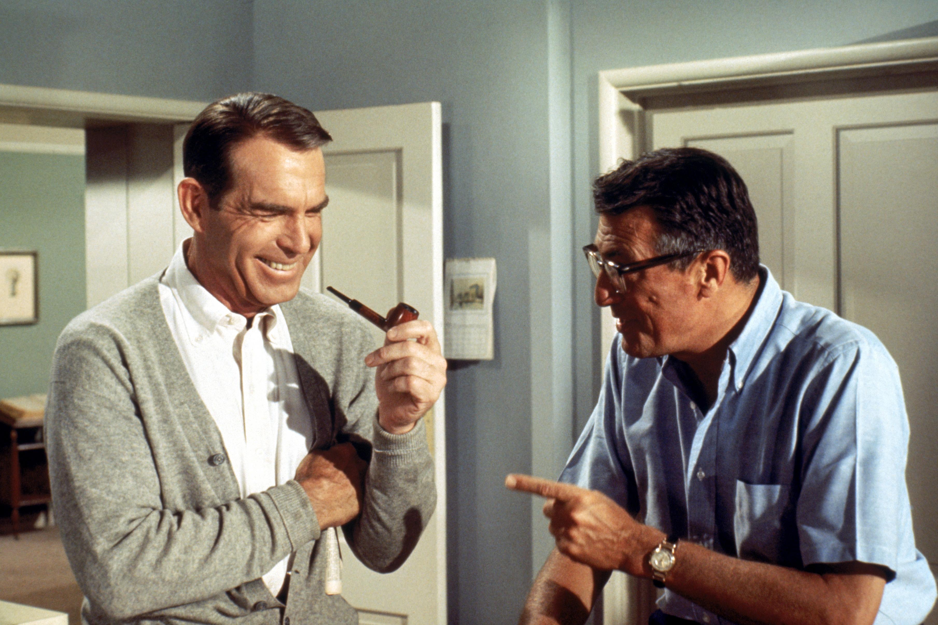 Frederick De Cordova and Fred MacMurray in My Three Sons (1960)