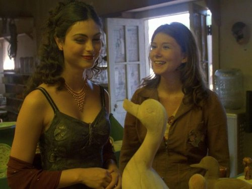 Jewel Staite and Morena Baccarin in Firefly (2002)