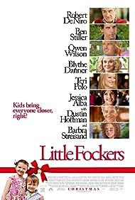 Robert De Niro, Dustin Hoffman, Barbra Streisand, Blythe Danner, Teri Polo, Ben Stiller, Jessica Alba, and Owen Wilson in Little Fockers (2010)