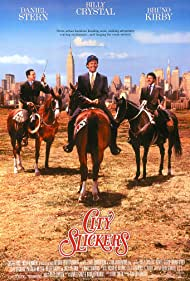 Billy Crystal, Helen Slater, Bruno Kirby, and Daniel Stern in City Slickers (1991)