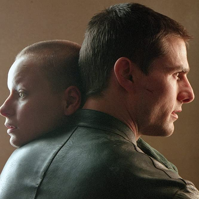 Tom Cruise and Samantha Morton in Minority Report (2002)