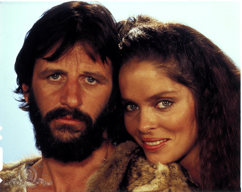 Barbara Bach and Ringo Starr in Caveman (1981)