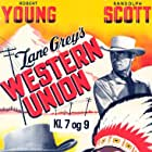 Randolph Scott and Robert Young in Western Union (1941)