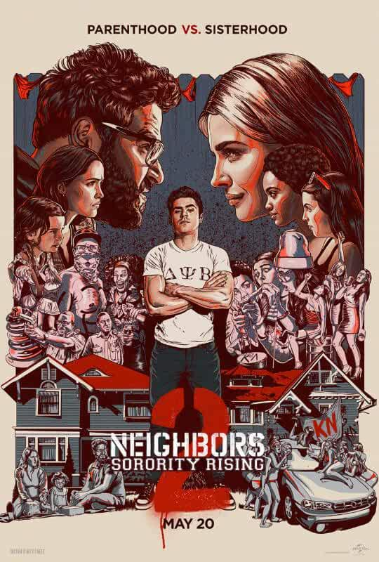 Neighbors 2: Sorority Rising (2016) BluRay Dual Audio [Hindi – English] x264 AAC ESUB