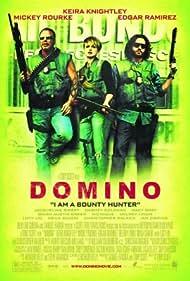 Mickey Rourke, Keira Knightley, and Edgar Ramírez in Domino (2005)