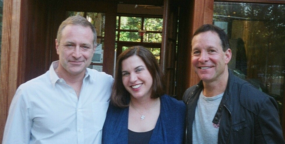 Director Tom Gilroy, screenwriter Caitlin McCarthy, and actor Steve Guttenberg at the 15th Annual Hamptons International Film Festival.