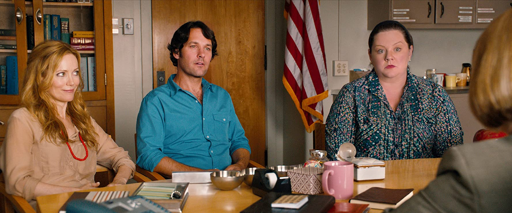 Leslie Mann, Melissa McCarthy, and Paul Rudd in This Is 40 (2012)