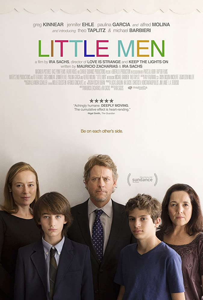 Jennifer Ehle, Greg Kinnear, Paulina García, Theo Taplitz, and Michael Barbieri in Little Men (2016)