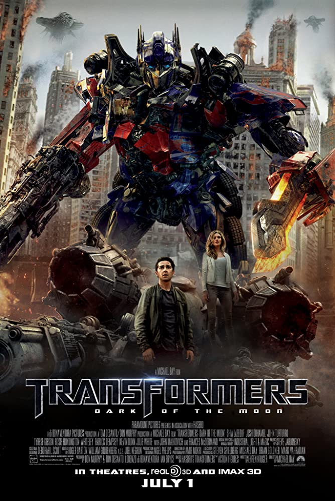 Transformers Dark of the Moon 2011 Hindi Dual Audio ORG 500MB BluRay Esub Download