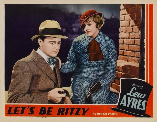 Lew Ayres and Patricia Ellis in Let's Be Ritzy (1934)
