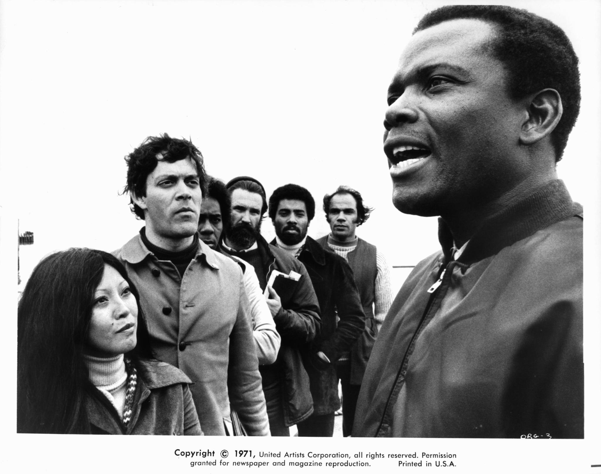 Raul Julia, Sidney Poitier, Lani Miyazaki, and Ron O'Neal in The Organization (1971)
