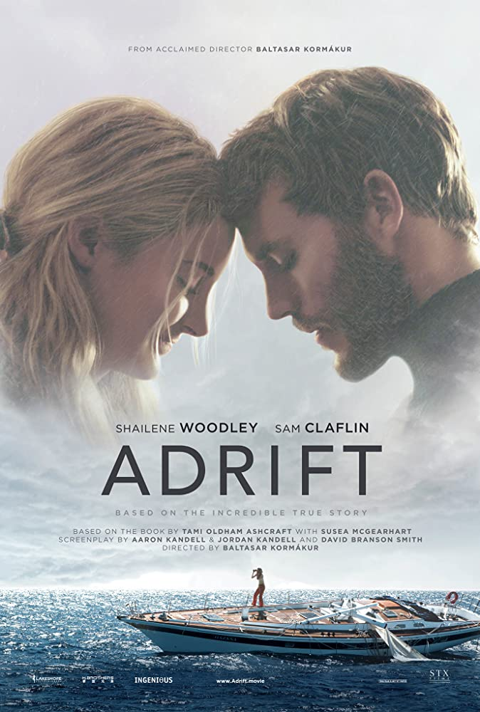 Shailene Woodley and Sam Claflin in Adrift (2018)