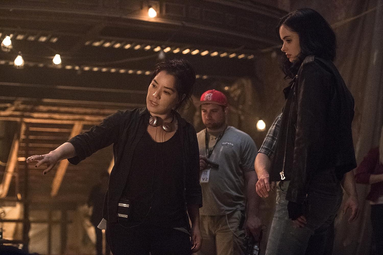 Krysten Ritter and Deborah Chow in Jessica Jones (2015)