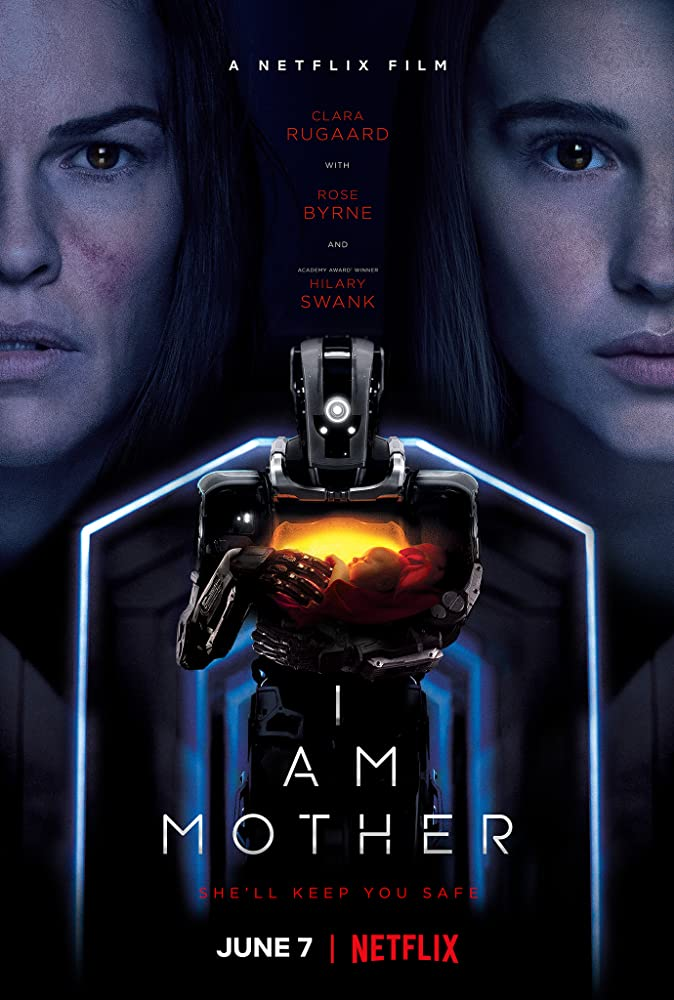 Hilary Swank and Clara Rugaard in I Am Mother (2019)
