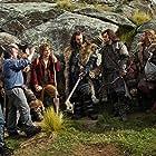 Peter Jackson, Richard Armitage, Martin Freeman, Mark Hadlow, William Kircher, Dean O'Gorman, Stephen Hunter, and Aidan Turner in The Hobbit: An Unexpected Journey (2012)