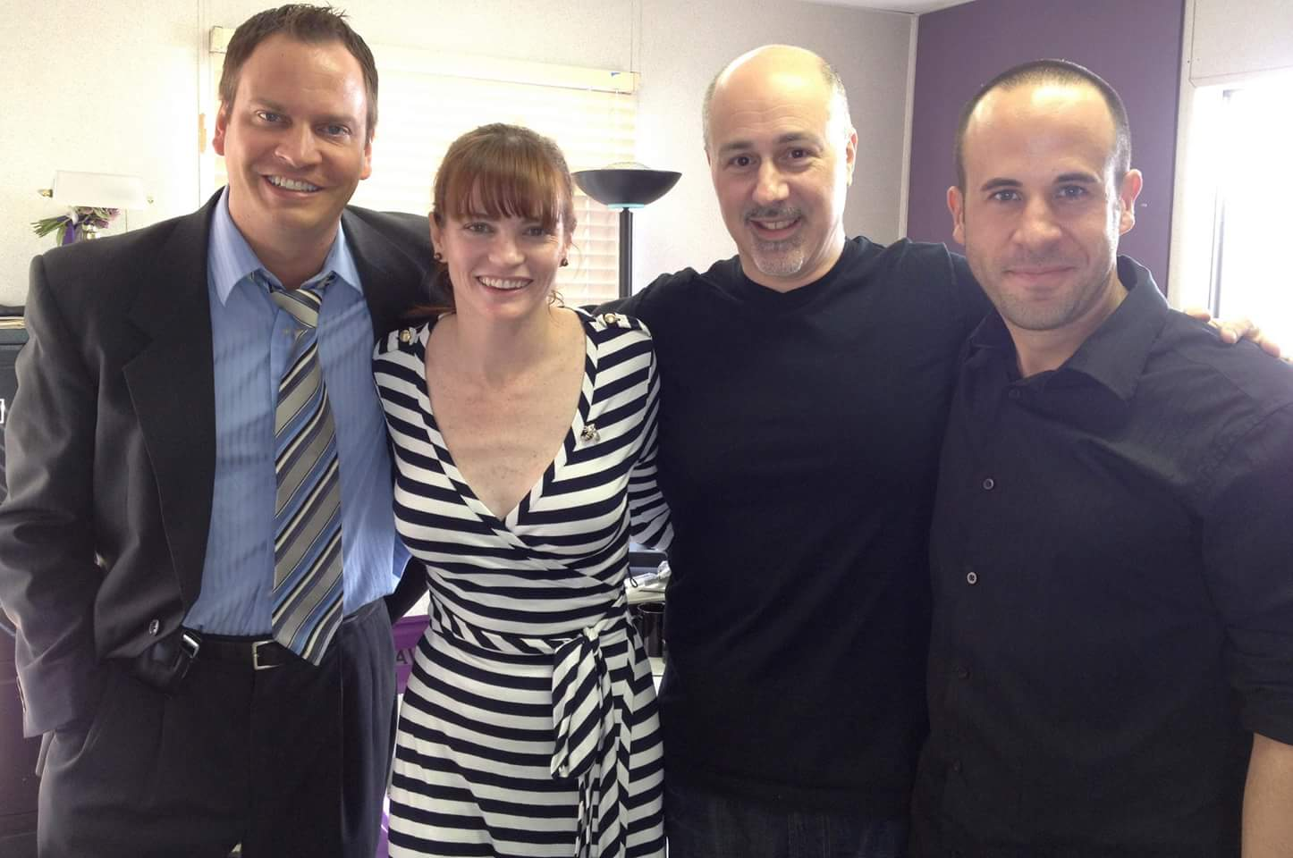 Scott David, Annie Lukowski, Paul DiVito, and Chad Ridgely at an event for The Hand of Now (2013)