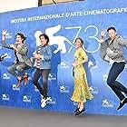 Gabriele Muccino, Brando Pacitto, Taylor Frey, Matilda Anna Ingrid Lutz, and Joseph Haro at an event for L'estate addosso (2016)