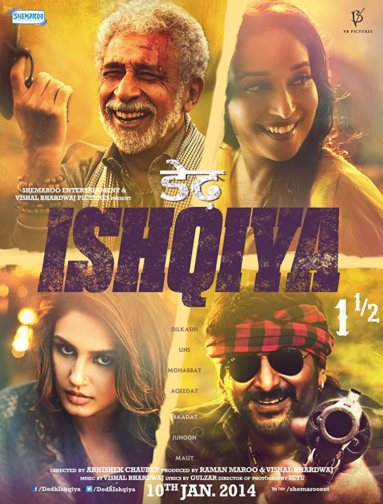 Dedh Ishqiya 2014 Hindi Movie 720p BluRay 1GB ESubs Download