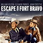 William Holden and Eleanor Parker in Escape from Fort Bravo (1953)
