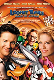 Heather Locklear, Steve Martin, Brendan Fraser, and Jenna Elfman in Looney Tunes: Back in Action (2003)