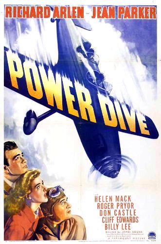 Richard Arlen, Don Castle, and Jean Parker in Power Dive (1941)
