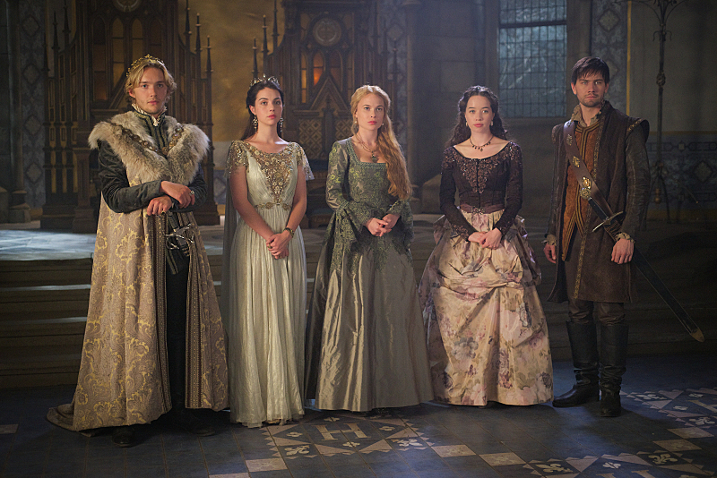 Anna Popplewell, Toby Regbo, Adelaide Kane, Torrance Coombs, and Celina Sinden in Reign (2013)