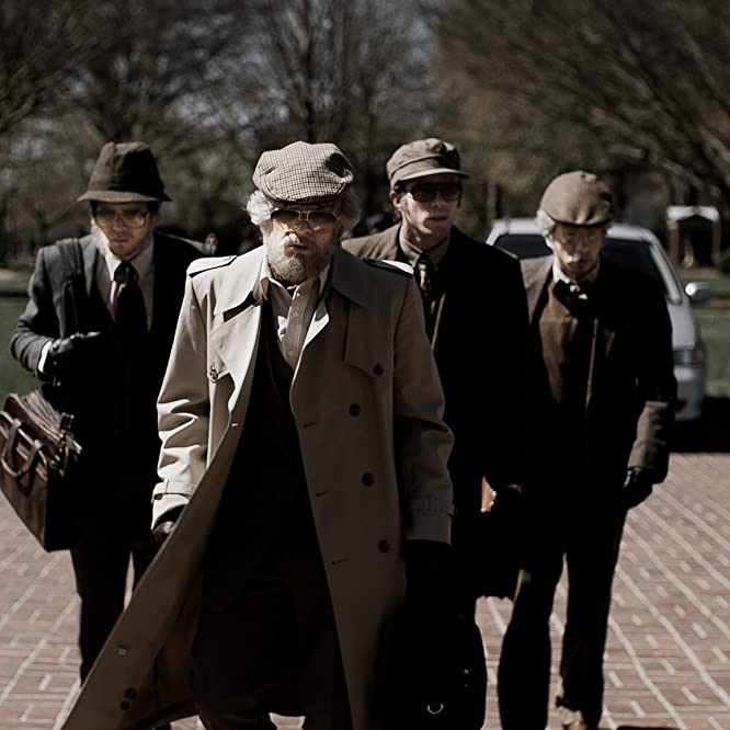 Evan Peters, Jared Abrahamson, Blake Jenner, and Barry Keoghan in American Animals (2018)