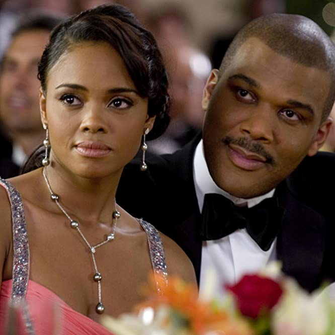 Sharon Leal and Tyler Perry in Why Did I Get Married? (2007)