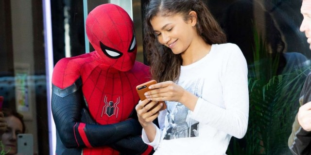 Zendaya and Tom Holland in Spider-Man: Far from Home (2019)