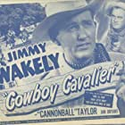 Jan Bryant, Douglas Evans, Dub Taylor, and Jimmy Wakely in Cowboy Cavalier (1948)