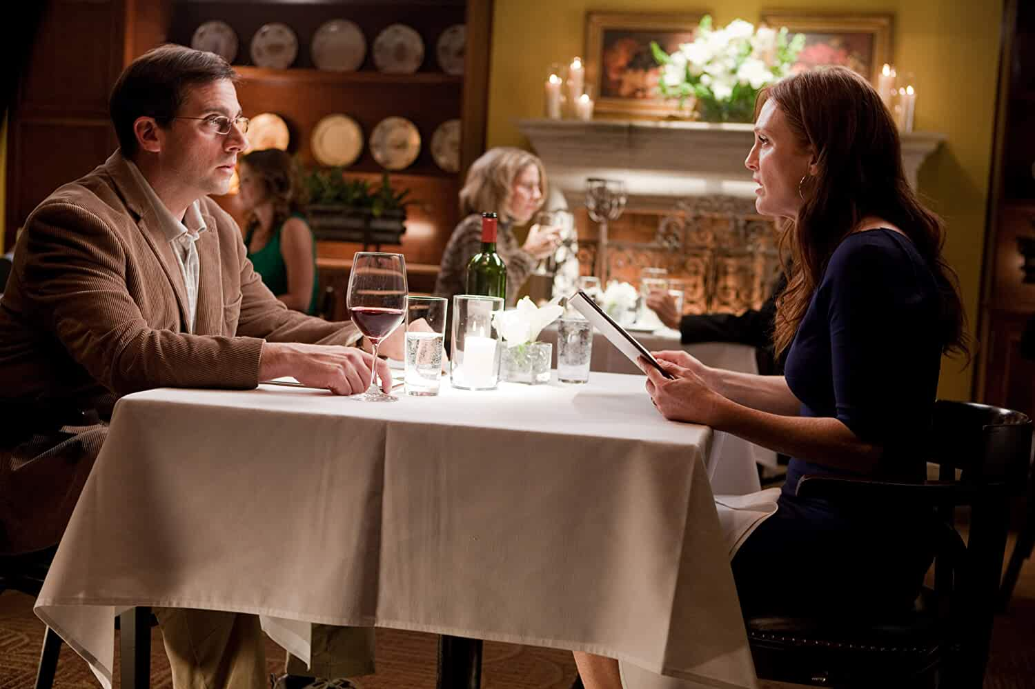 Julianne Moore and Steve Carell in Crazy, Stupid, Love. (2011)