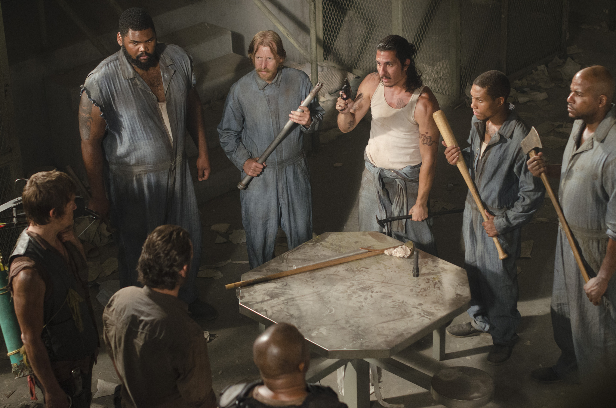 Norman Reedus, Nick Gomez, Lew Temple, Irone Singleton, Markice Moore, and Theodus Crane in The Walking Dead (2010)