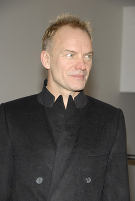 Sting at an event for A Guide to Recognizing Your Saints (2006)