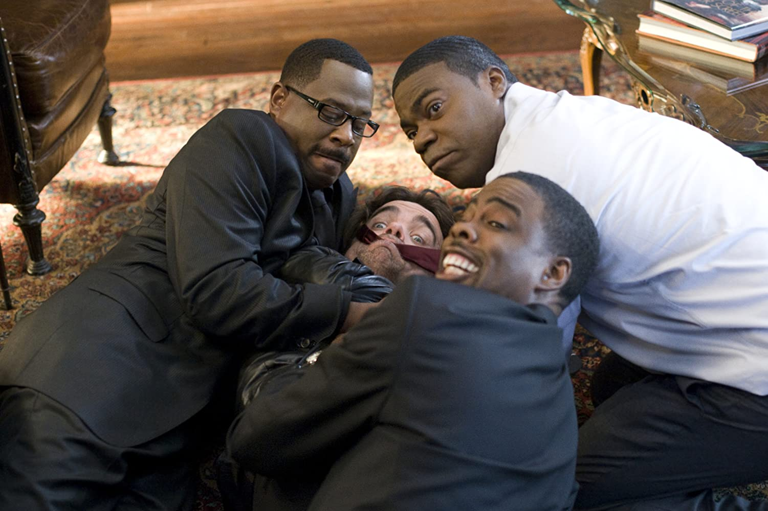 Martin Lawrence, Chris Rock, Peter Dinklage, and Tracy Morgan in Death at a Funeral (2010)