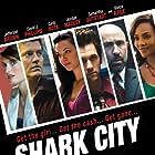Vivica A. Fox, Jefferson Brown, Samantha Gutstadt, Jordan Madley, Tony Nappo, Carlo Rota, and David J. Phillips in Shark City (2009)