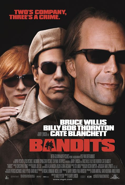 Bruce Willis, Billy Bob Thornton, and Cate Blanchett in Bandits (2001)