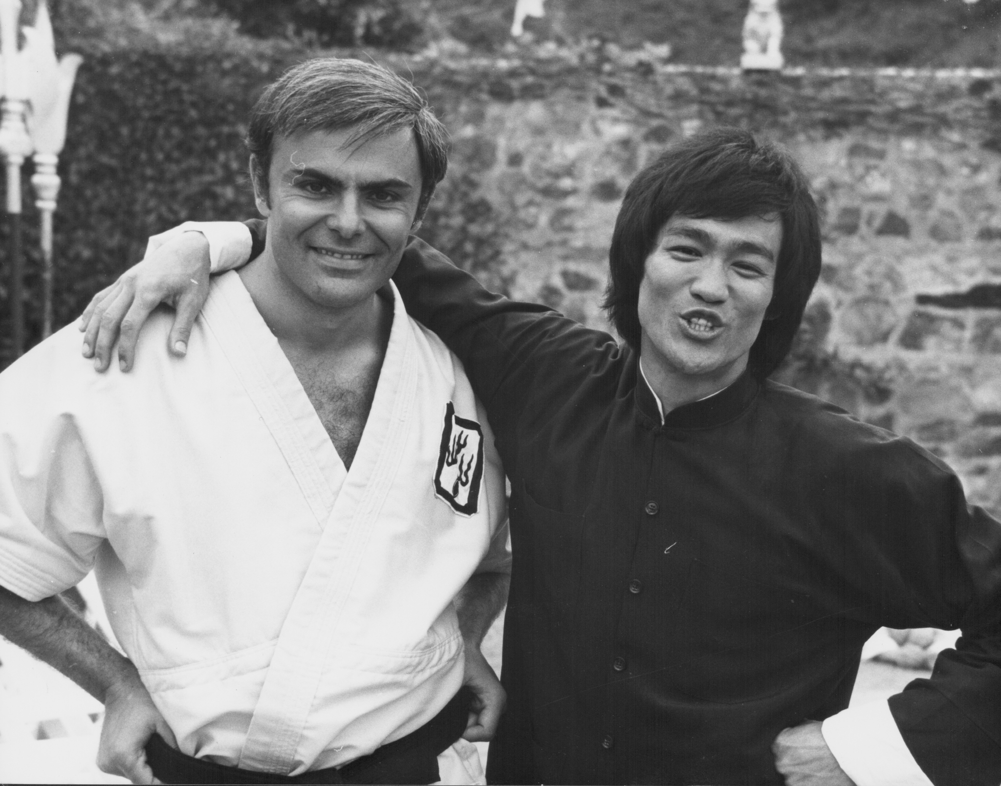 Bruce Lee and John Saxon in Enter the Dragon (1973)