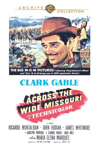 Clark Gable and María Elena Marqués in Across the Wide Missouri (1951)