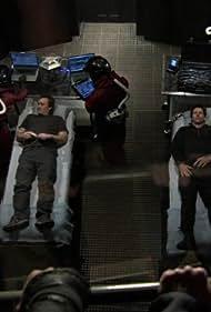 Joe Flanigan and David Hewlett in Stargate: Atlantis (2004)