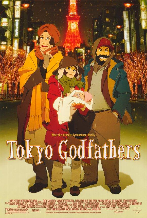 Poster film Tokyo Godfathers (2003).