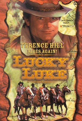 Terence Hill, Dominic Barto, Ron Carey, Bo Greigh, and Fritz Sperberg in Lucky Luke (1991)