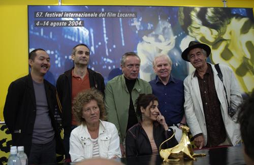 Olivier Assayas, Udo Kier, Tilde Corsi, and Nelson Lik-wai Yu