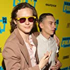 Keir Gilchrist and Logan Miller at an event for The Good Neighbor (2016)